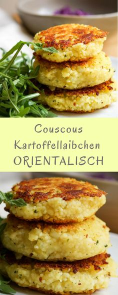 Couscous potato fritters Kartoffellaibchen: a recipe for children with oriental flavor! The post Couscous potato fritters appeared first on Garden ideas - Health and fitness Healthy Chicken Recipes, Veggie Recipes, Baby Food Recipes, Healthy Dinner Recipes, Vegetarian Recipes, Potato Recipes, Veggie Food, Recipe Chicken, Avocado Recipes