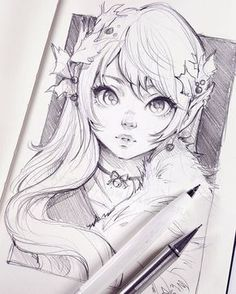 Featured artist: Telimena Ladowska # imagined, - Drawing Still 2020 Anime Drawings Sketches, Anime Sketch, Manga Drawing, Manga Art, Cute Drawings, Anime Art, Drawing Artist, Art Inspo, Kunst Inspo