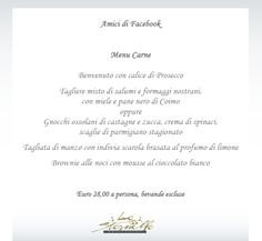A very special menu dedicated to all our FACEBOOK friends ! Special Events, Menu, Facebook, Friends, Menu Board Design, Boyfriends