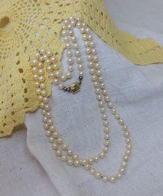 Vintage Halsschmuck - Akoya-Perlen Halskette 925 14k HK116 - ein Designerstück von Atelier-Regina bei DaWanda