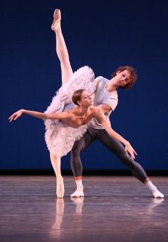 Olga Smirnova and Semyon Chudin in Grand pas classique rehearsal Photo by Walter McBride