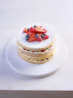 A Genoise is a particularly light and delicate kind of sponge, traditionally served with fresh fruit and cream – ideal for tea on a summer's day. This is may favourite way to prepare it and serve it.