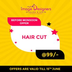 With monsoons around the corner, enjoy the last bit of summer with a fresh haircut and a new you! Image Designers Salon and Spa bring you hair cut offers starting from Rs. 99! Call now! . . Call For Booking: (+91) 98197 64890 Address: Shop no.18, Saraswati Niwas, Pai Nagar, Near Gokul Hotel, SVP Road, Borivali (west) Mumbai. New You, You Are Beautiful, Monsoon, Mumbai, Your Hair, Salons, Hair Cuts, Designers, Corner