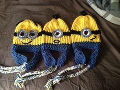 The Despicable Me films are some of my favorite movies and they inspired me to make these cute beanies! These are COMPLETELY CUSTOM MADE!!