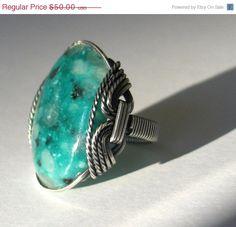 Kiwi Jasper Ring. hardcandygems