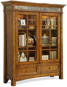 Craftsman Home Door Bookcase By Riverside Furniture Gl Shelves China Cabinet Storage