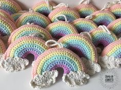Crochet Home, Cute Crochet, Crochet Baby, Knit Crochet, Amigurumi Patterns, Knit Patterns, Rainbow Crochet, Crochet Projects, Crochet Ideas