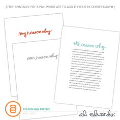 """Ali Edwards 