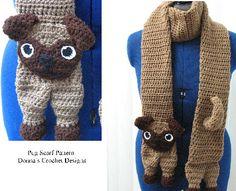 Pug Scarf Crochet Pattern