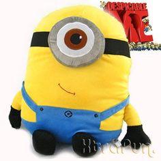 "BIG! Despicable Me Minion Figure 18"" Stewart Cushion Pillow Plush Stuffed Doll Toy collectible -XTRAFUN ESSENTIALS by XTRAFUN, http://www.amazon.co.uk/dp/B005ZB1GP2/ref=cm_sw_r_pi_dp_jqMAsb04JJ4N9"