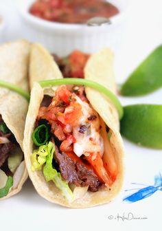 Korean Beef and Kimchi Tacos | cHowDivine.com