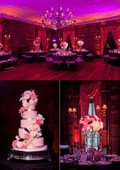 Pink and Purple Gold Coast Wedding at de Seversky Center. Dim lighting.