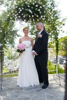 wedding in Italy under Arch at Villa Maratea