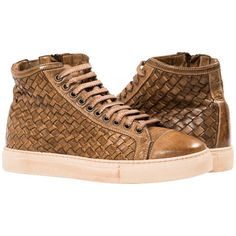 Arden Dip Dyed Moor Hand Woven High Top Sneakers from PaoloShoes.com