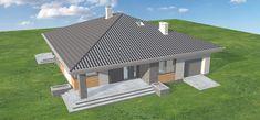 Projekt domu Blanka - murowana – beton komórkowy 99,5 m2 - koszt budowy 246 tys. zł - EXTRADOM Outdoor Decor, Home Decor, Homemade Home Decor, Decoration Home, Interior Decorating