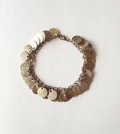 Gypsy Coin Bracelet - Gypsy Bracelet Gold Coin Bracelet Gold Coin Jewelry Coin Charm Bracelet Gold Bohemian Bracelet Gold Boho Bracelet Cute