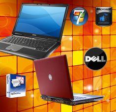 DELL LATITUDE LAPTOP WINDOWS 7 CORE 2 DUO 3.6GHZ 80GB 2GB WIFI CHEAP, RED