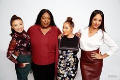 """""""The Real"""" is led by 4 bold, diverse and outspoken hosts - Adrienne Bailon, Loni…"""
