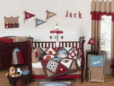 All Star Sports Baby Bedding 11 pc Crib Set by JoJO Designs, http://www.amazon.com/dp/B008RMKFV2/ref=cm_sw_r_pi_dp_Z3coqb04HKESY