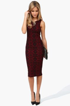 Holiday dress - red & black pattern. Love this!