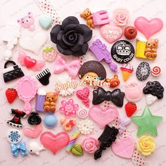 Decoden Kawaii Resin Cabochon Assortment Assorted Pack Sophie & Toffee Cabochons Starter Pack (20pcs) on Etsy, $9.49