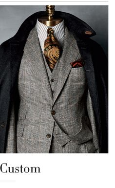 English tailoring. Custom Taylor-made men's Suit. Paul Stuart