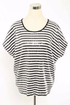 Ruby Rd. Size PXL Striped Sequin Embellished Tunic Shirt 109 L516  | eBay
