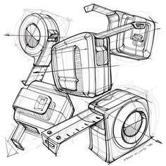Fabulous Drawing On Creativity Ideas. Captivating Drawing On Creativity Ideas. Industrial Design Portfolio, Industrial Design Sketch, Portfolio Design, Perspective Drawing Lessons, Perspective Sketch, Structural Drawing, Technical Drawing, Pen Design, Sketch Design