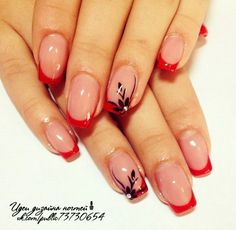 Богиня красоты Classy Nails, Fancy Nails, Stylish Nails, Red Nails, Cute Nails, Blue Nail, French Manicure Toes, French Tip Nails, Nail Manicure