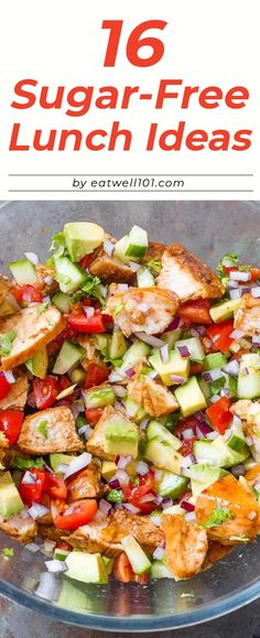 16 Sugar-Free Lunch Ideas to Pack Up for Work – – These healthy lunch ideas with no added sugar will actually keep you full until dinner. 16 Sugar-Free Lunch Ideas to Pack Up for Work – – These healthy lunch ideas with no added sugar will actually … Sugar Free Lunch Ideas, Sugar Free Recipes Dinner, Diabetic Lunch Ideas, Diabetic Meal Plan, Low Sugar Recipes, No Sugar Foods, Diet Recipes, Healthy Recipes, Sugar Free Meals