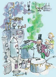 Roald Dahl - Charlie and the Chocolate Factory (Willy Wonka) by Quentin Blake - art print from King & McGaw