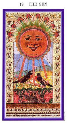 XIX. The Sun  - Zerner-Farber Tarot by Amy Zerner, Monte Farber