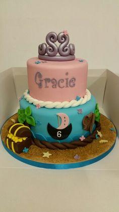 Princess and Pirate Birthday Cake