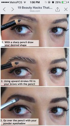 Eyebrow hack