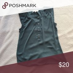 Loft Green Sleeveless Blouse Great Blouse only worn a couple times! For for a casual day! LOFT Tops Blouses