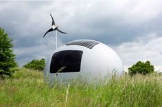 Nice Architects designed the Ecocapsule, an egg-shaped portable micro-shelter that lets you live off-grid. Tiny Mobile House, Off Grid Tiny House, Micro House, Grid Architecture, Sustainable Architecture, Shelter, Portable House, Rain Barrel, Water Conservation