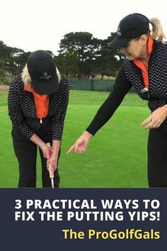 The ProGolfGals, Anne and Dennise are back with three proven ways to fix those costly hand twitches and shaky putting strokes. #golf #golftip #golfswing #golflessons #womensgolf