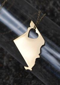 Missouri State Necklace-Gold