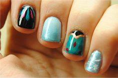 Disneys frozen inspired nail art