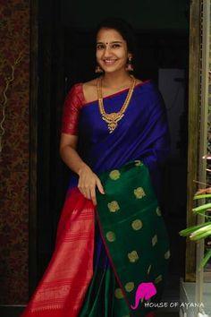 Jute Silk Saree, Soft Silk Sarees, Cotton Saree, South Indian Bride Saree, Indian Sarees, Indian Bridal, Kanjivaram Sarees Silk, Kanchipuram Saree, Silk Sarees Online Shopping