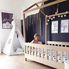 Crib and teepee - Instagram photo by @melinda.max