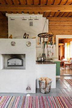 Scandinavian Interior Design, Scandinavian Home, Interior Design Living Room, Interior Decorating, Unfitted Kitchen, Led Lighting Home, Nordic Home, Old Cottage, Log Homes