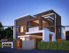 architectural visualizer modern exterior design in your thought Modern Bungalow Exterior, Modern Exterior House Designs, Latest House Designs, Modern House Plans, Modern House Design, Exterior Design, House Outside Design, House Front Design, Small House Design