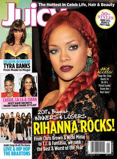 At AllMagazinePrices.com you will get the lowest price on a Juicy magazine subscription. Celebrity Magazines, Vintage Black Glamour, Hair Secrets, Tyra Banks, Party Hairstyles, 50 Fashion, Celebs, Celebrities, Short Cuts