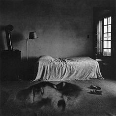 Jerry Uelsmann - Bed with Face on Floor, 1968. S)
