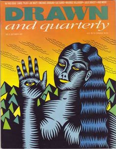 """October 1991 cover for the Candian quarterly comic book mag """"Drawn and Quarterly."""" Very Art Spiegelman. Can't make out if it lists who this is by. Art Spiegelman, Illustration Art, Illustrations, Making Out, Comic Books, Draw, Comics, Cover, Illustration"""