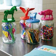 Süße Idee für Bastel- & Malsachen im Kinderzimmer