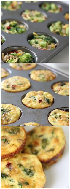 Talk about a protein loaded breakfast. Make a batch of these mini frittatas on Sunday and eat them for the rest of the week so you can have a gluten-free breakfast on the go.