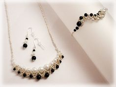Black and white set beading TUTORIAL by AsszaBeadingArts on Etsy