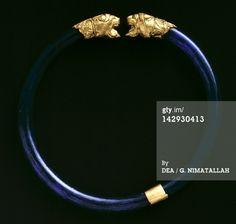 ITALY - CIRCA 2002: Gold bracelet, from Vulci (Lazio). Etruscan civilization, 6th Century BC. Rome, Museo Nazionale Etrusco Di Villa Giulia (Villa Giulia National Museum, Archaeological Museum